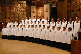 The children's choir of the Monastery of Montserrat
