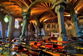The Crypt designed by Gaudí